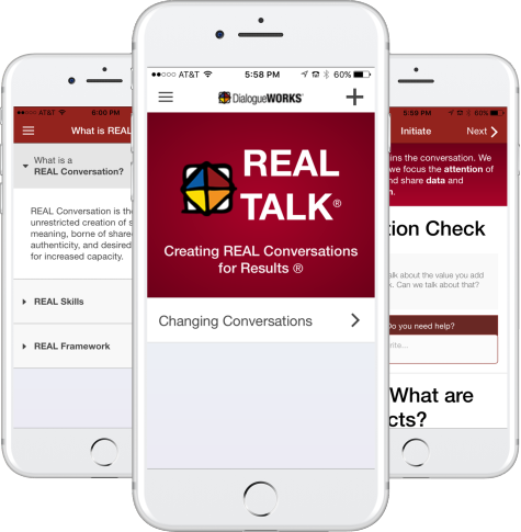 Various Screenshots of Real Talk App